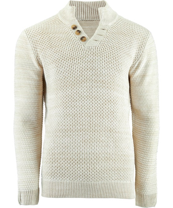 Mens' Button Shawl Neck Sweater