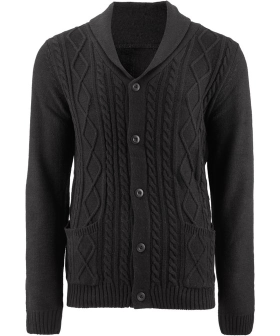 Mens' Cable Knit Cardigan