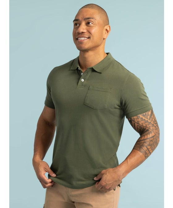Men's Organic Short Sleeve Polo