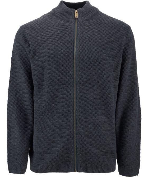 Men's Textured Zip Thru Cardigan