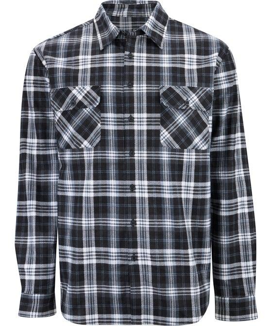 Men's Button Through Flannel Shirt