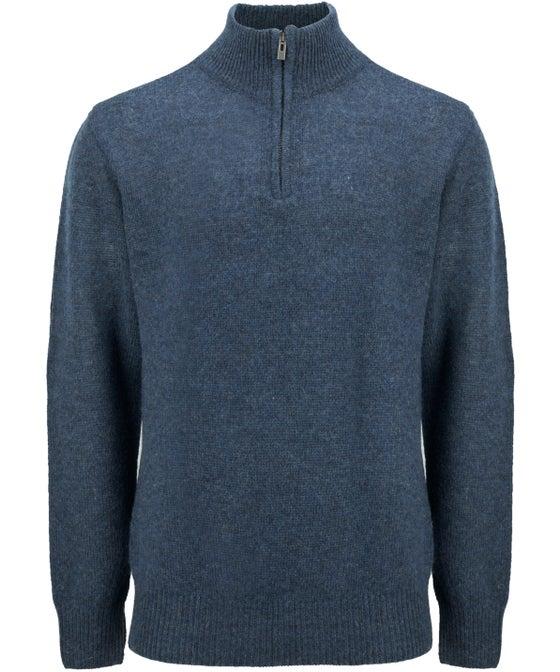 Mens' 1/4 Zip Shetland Wool Jersey