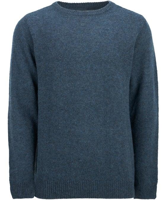 Mens' Crew Neck Shetland Wool Jumper