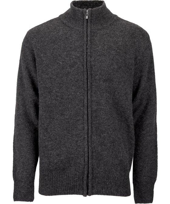 Men's Full Zip Shetland Wool Jersey