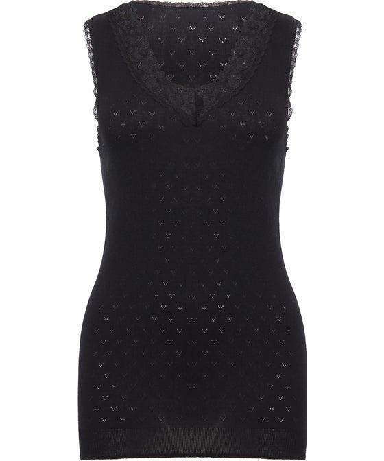 Women's Lace Neck Thermal Vest