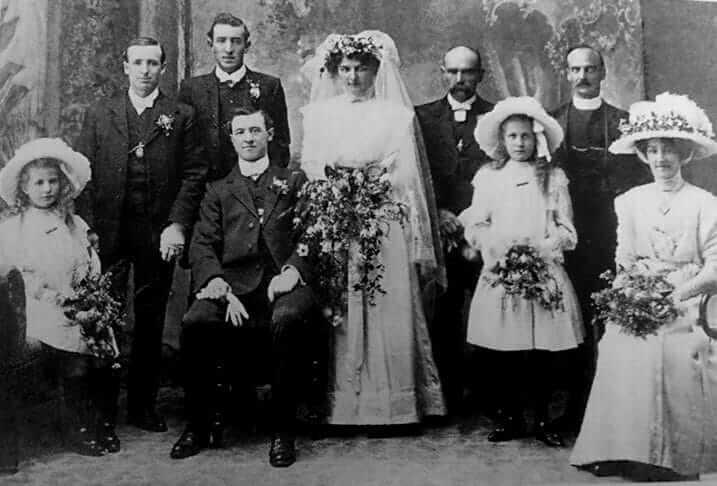 The wedding of Thomas Arthur Dellaca and Leonora (Lena) Blight