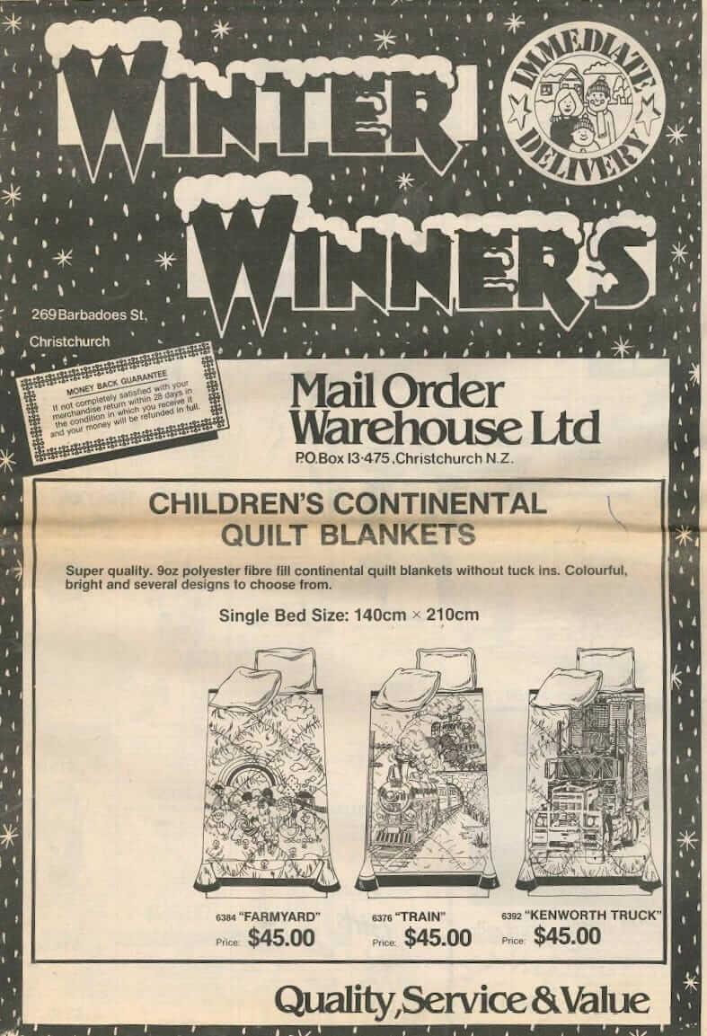 Mail Order Warehouse newsprint catalogue