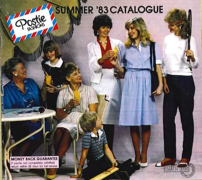 colour catalogue was produced by Postie Fashions